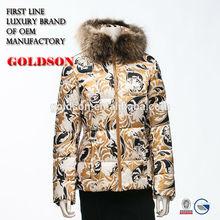 2015 Korea women winter coat 2015 down jacket with raccoon fur