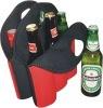 customized neoprene 6 pack bottle cooler bag