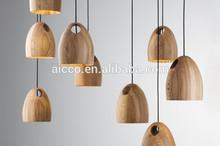 alibaba express interior decoration Ross Gardam wood led pendant lighting