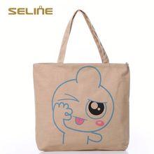 Fashion customized jute bag with zipper
