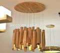 china proveedor de nuevos productos para el hogar lámparas de madera natural comercial led de iluminación colgante