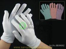 cheap price 92%cotton 8%spandex colorful moisturising gloves/white cotton work gloves