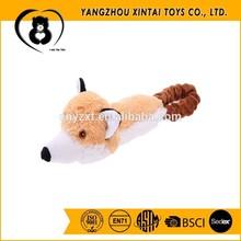 Wholesale cute fox-head plush dog toys