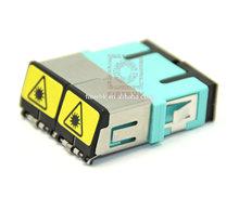 SC dx full-inspection fiber optic door adapter made in p.r.c.