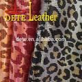 materias primas para la fabricación de zapatos de leopardo de último diseño de cuero sintético para los zapatos para hombre