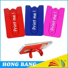 Hot Sale Colorful HBJ024 sticky mobile phone stand with pocket For Smart phones /Cards