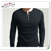Long Sleeves V-neck Men's Fitted T-shirts