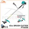 POWERTEC 43CC 1200W Sellin Well Gasolin,Gas Brush Cutter,4300 Grass Trimmer
