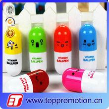 2015 new hot sale Promotional Capsule shape Stretchable Pill Pen