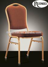 Hotel Stackable steel metal iron banquet dinning restaurent space saving stackable chair F009