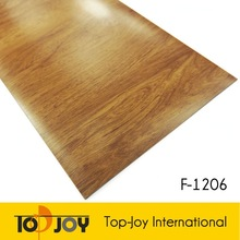 Indoor commercial synthetic plastic roll pvc wood flooring