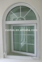 PVC profile casement crank window with grill design