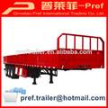 El certificado del ccc aprobado 3 ejes de la pared lateral de camiones remolques/alta cama semi- trailer con paredes laterales/de carga a granel semirremolque