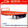 Best seller 40ft 2 eixos bogie suspensão parede lateral reboque / forte carga reboque do caminhão dimensões