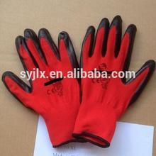 CE Standard nitrile coated glove,nitrile coated working gloves