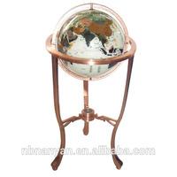 Gemstone Craft Tall Three Stands 330 mm World Globe Map