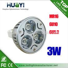 GU10 3W spot light DC12V MR16 led spot lights from Shenzhen factory