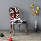 RCH-4073-1 Anqitue union jack chair/ottoman fabric chairs