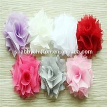 Chiffon/Mesh Wild Flower Applique (Lavender,Ivory, White , Red,Hot Pink, Grey,Pink)