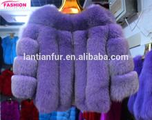hot selling blue fox fur coat / women fox fur coat / real winter fox fur coat