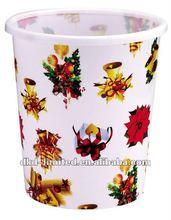 New Flower printing plastic garbage bin