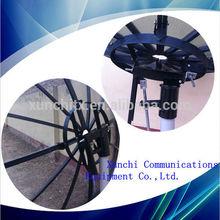 c band 3m mesh pole mount satellite dish antenna