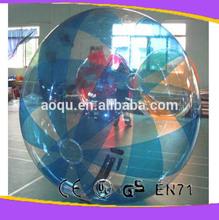 T-zipper inflatable water ball/roll inside inflatable ball/giant inflatable clear ball