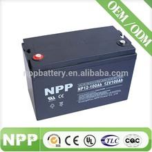 12V 100AH Solar Application Long Life Solar Deep Cycle Battery