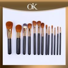 QK hot sale top quality black handle goat hair makeup brush set
