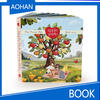 children english board book printing, binding book with hardcover