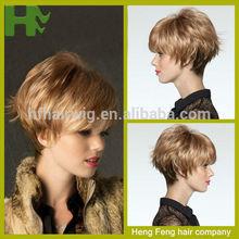 fashion spiky hair wigs natural hair wig for men short human hair wig for white women