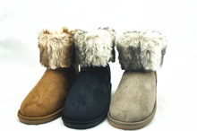 fur colorful women warm winter snow boots