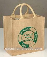 Gasun 2015 jute shopping bag, jute bags wholesale, jute tote bags wholesale
