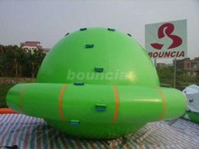 Beautiful green inflatable saturn rocker inflatable water leisure/inflatable floating leisure/aqua leisure inflatables
