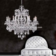 China Supplier Wedding Decoration Chandelier Milky White Glass Pendant Light Oval K9 Crystal Candle Frame Chandelier
