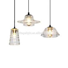 Hot Sell Decorative Modern Clear Transparent Glass Bottle Hanging Pendant Light