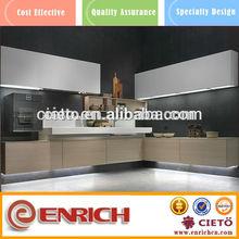 contemporary melamine kitchen cabinets door in guangzhou furniture market