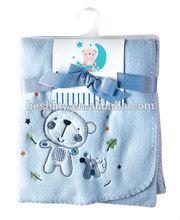 92*92cm 220gsm embroidered children baby blanket