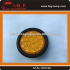 4 inch Round Semi Truck LED Tail Light Amber Color