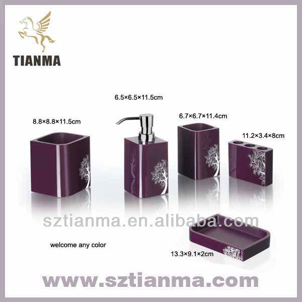 Accessoires de salle de bains violet r gl en usine lots for Ensemble accessoires salle de bain