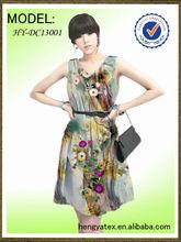 textile printing chiffon dresses fabric digital print