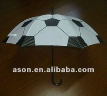 Football Design Curve Handle Straight Umbrella