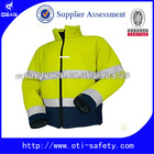 high reflective safety jacket with worker