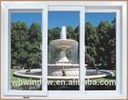 Hi-q PVC casement glass window with grills,PVC fixed window