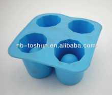 la cavidad 4 suave de silicona de hielo del molde