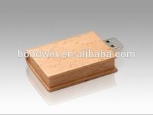 8gb 16gb bamboo book usb flash drive