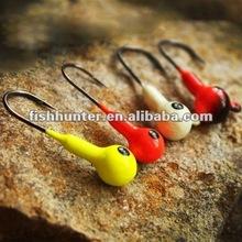 glow in the dark lead jig head hook lead head metal fishing lure Q05-3.5