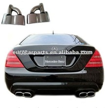 stainless steel muffler tips, exhaust tips for BENZ mercedes S-CLASS W221 S65 Style 06-12