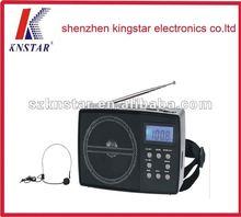 2012 new stlye LCD digital radio with time,mp3 and karaoke