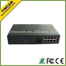 8 Ports 10/100TX 1 Port 100Base-FX optical fiber switch ,Hub